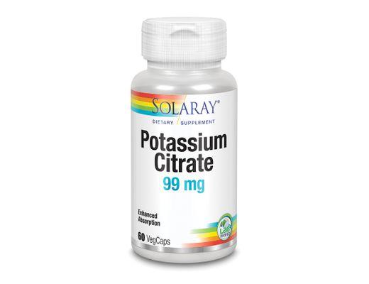 Solaray Potassium BioCitrate 60 hylki
