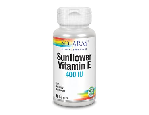 Solaray Super Bio Sunflower E 400 IU, 60 gelhylki