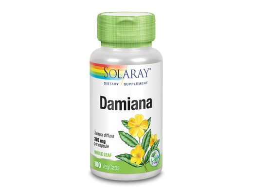 Solaray Damiana 370mg, 100 hylki