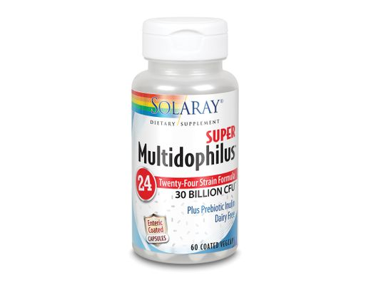 Solaray Super Multidophilus 24 hour, 30 billion, 60 stk.