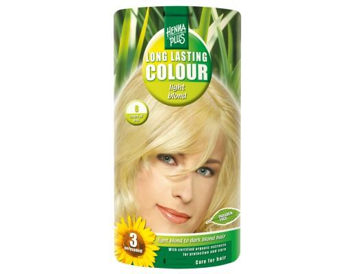 Henna Plus Long lasting hárlitur #8 Light blond