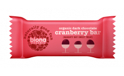 Biona Organic Dark chocolate cranberry bar 40 gr.