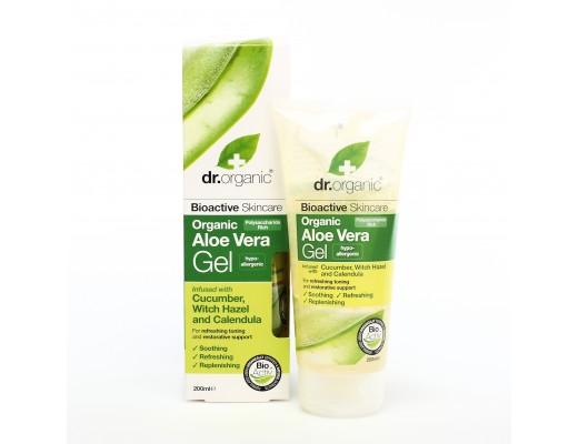 Dr. Organic Aloe Vera Gel with Cucumber, Witch Hazel & Calendula 200 ml.