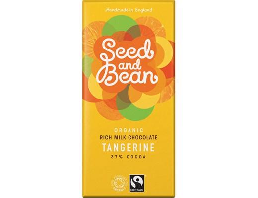 Seed and Bean Tangerine mjólkursúkkulaði 85 gr.