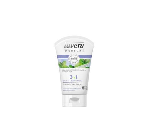 Lavera 3-in-1 skrúbbmaski 125 ml.