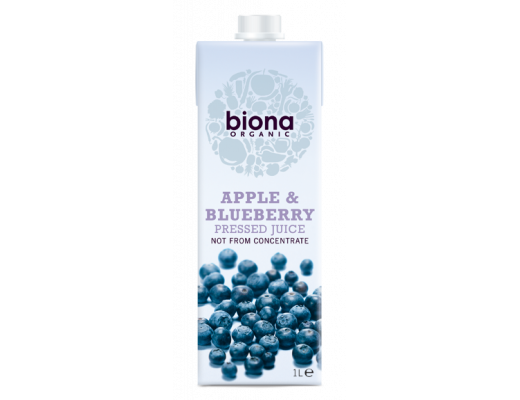 Biona Epla & Bláberjasafi 330 ml.