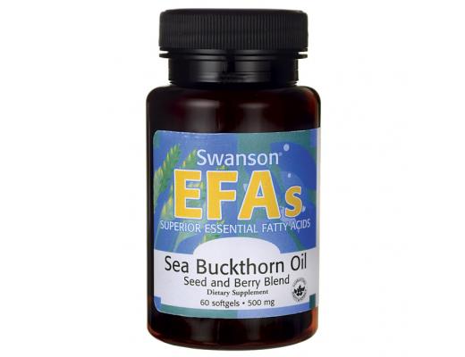 Swanson EFA s Sea Buckthorn Oil 500mg 60 hylki