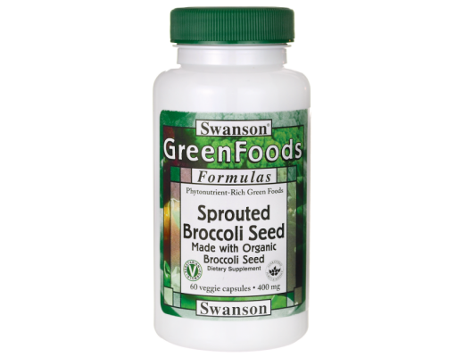 Swanson GF Sprouted Broccoli Seed 400mg 60 hylki