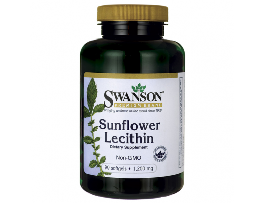 Swanson Sunflower Lechithin 1200mg 90 softgels