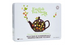 English Tea shop Luxury White Tin