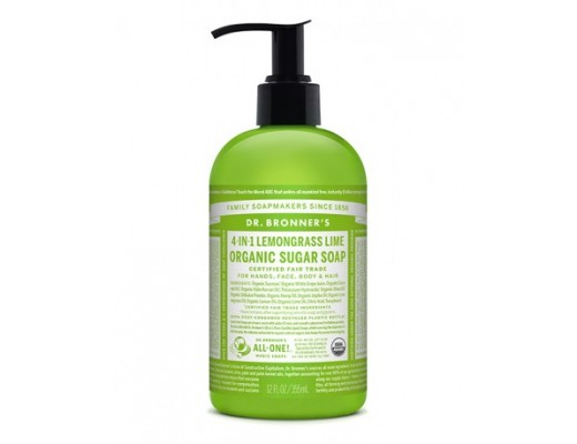 Dr. Bronner handsápa lemongrass Lime 355 ml.