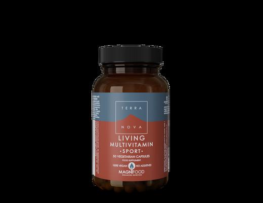 Terranova Living Multivitamin SPORT, 50 vegan hylki