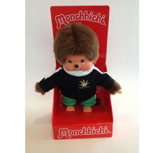 Monchhichi - Monsu strákur í svartri peysu