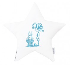 Star cushion - Jester & Bunny