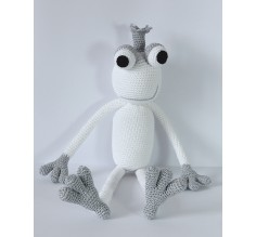 KING FROGGY LARGE - SILVER WHITE