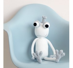 KING FROGGY SMALL - SILVER WHITE