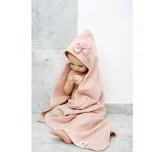 Hooded Towel - Powder Pink