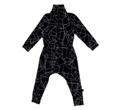 Baby Jumpsuit - Black Cubes