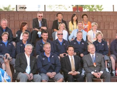 Íslenski hópurinn á Team Welcome Ceremony á Paralympics 2008 í Peking (Mynd/Jón Björn)