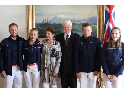 Frá móttöku forseta Íslands 2012 fyrir keppendur á Paralympics í London (Mynd/Jón Björn)