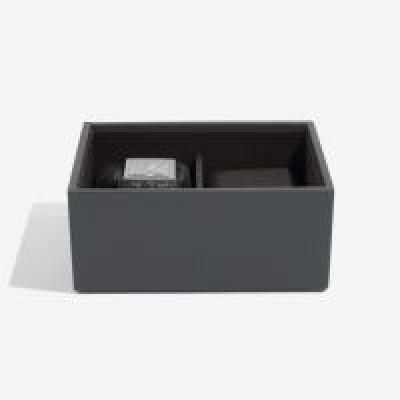 Stackers mini box grátt með tveimur hólfum