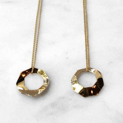 Octagon Flow necklace Gold Plated