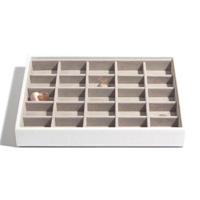 Stackers box hvítt með litlum hólfum