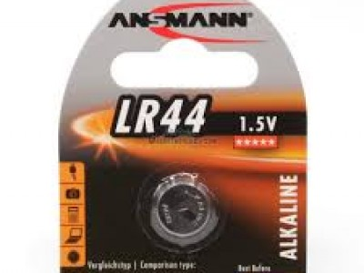 Rafhlaða, LR44, alkaline, 4stk