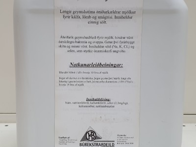 Mjólkursýrir, MilkSafe, 5L
