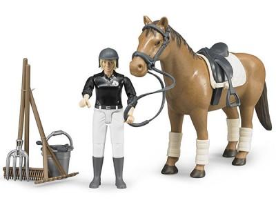 Hestur, knapi og aukahlutir