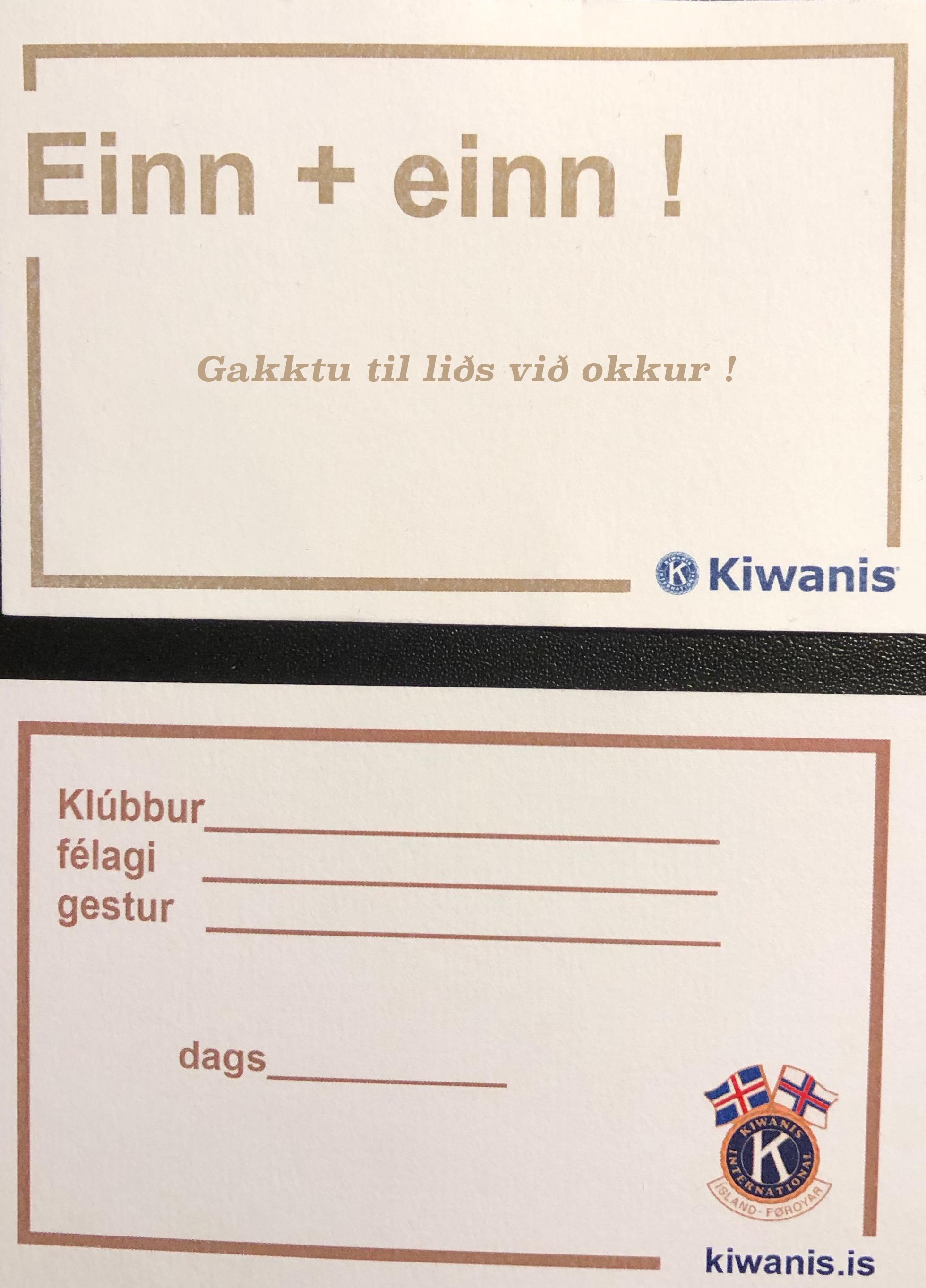 Einn + einn átakið !
