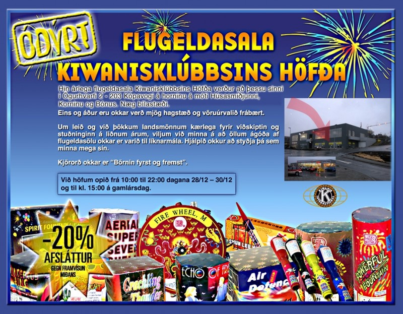 Flugeldasala Kiwanisklúbbsins Höfða