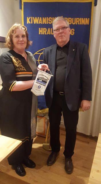Rannveig Jóhannsdóttir á fundi hjá Hraunborgu !