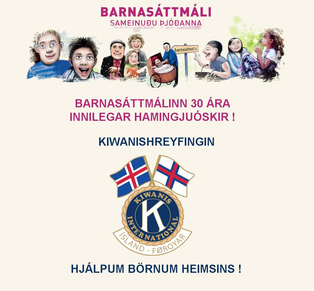 Barnasáttmáli Sameinuðuþjóðanna 30 ára !