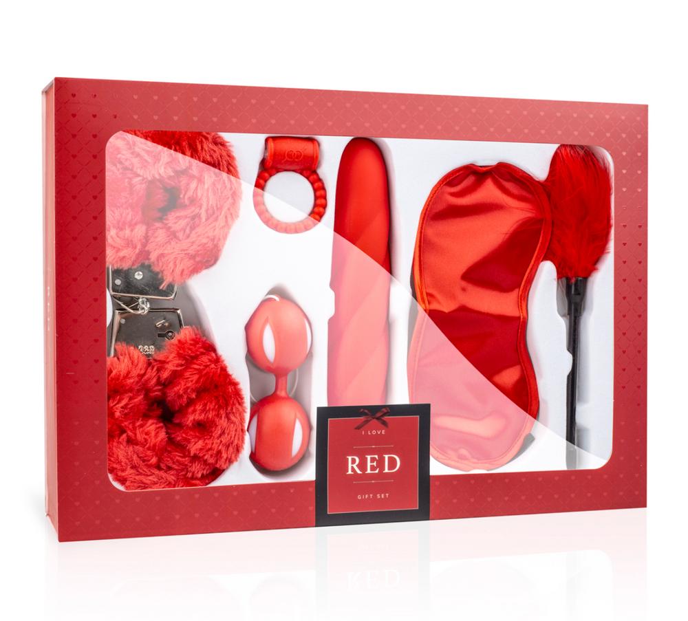 I Love Red Gjafasett