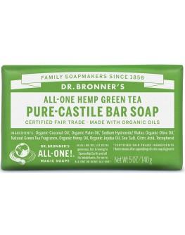 Bronners lífrænt sápustykki - green tea