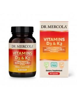 Mercola Vítamín D3 og K2 3mán