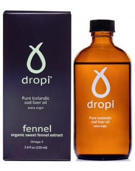 Dropi þorskalýsi m/fennel bragði 220ml