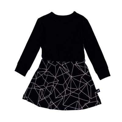 Baby Dress - Black Cubes