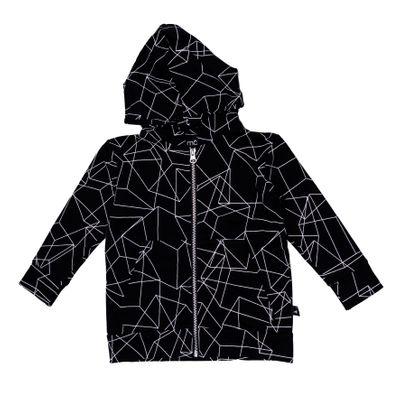Hoodie Zipped - Black Cubes