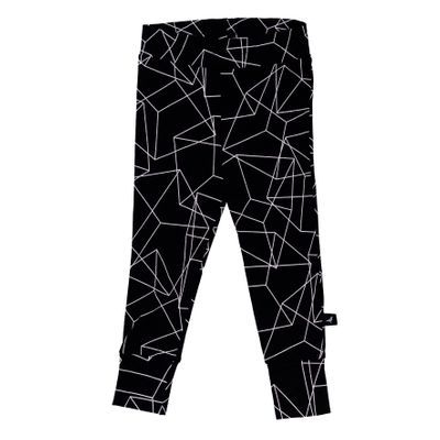 Baby Leggings - Black Cubes