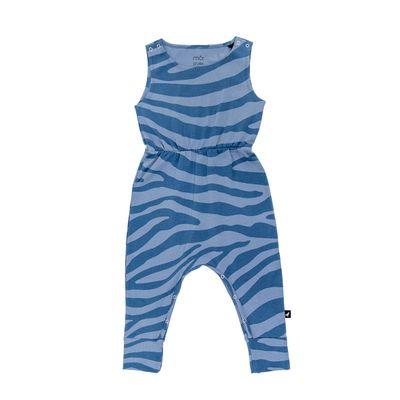 Baby Jumpsuit - Blue Animal