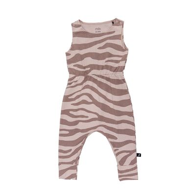 Baby Jump Suit - Blush Animal