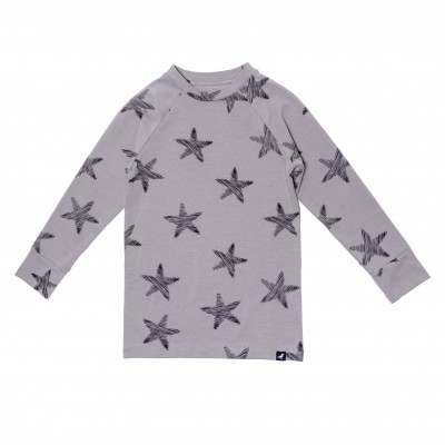 Baby Long Tee - Grey Starfish