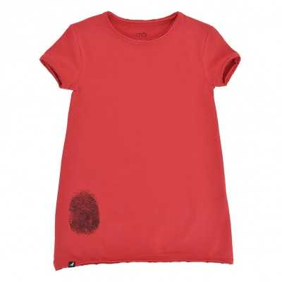 Baby Dress - Red Fingerprint