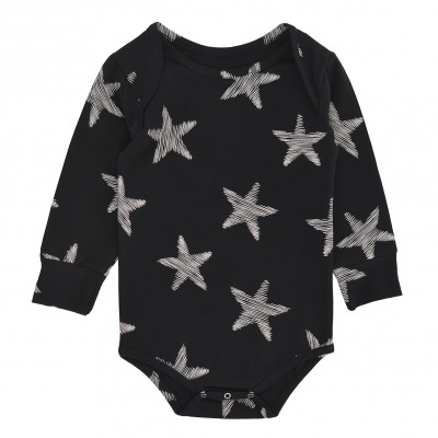 Body Suit LS - Black Starfish