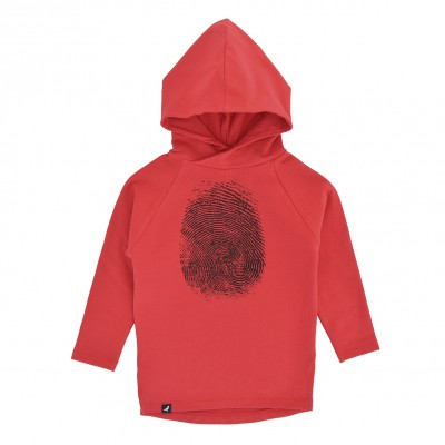 Hoodie Long - Red Fingerprint