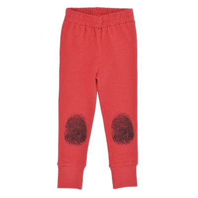Baby Leggings - Red Fingerprint
