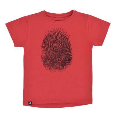 Baby T-Shirt - Red Fingerprint