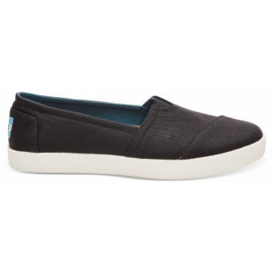 Toms avalon women Black coated canvas